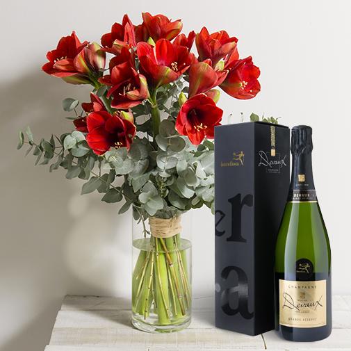 Fleurs et cadeaux Esprit de fête et son champagne