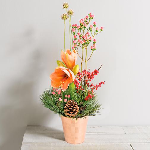 Bouquet de fleurs Sous le sapin
