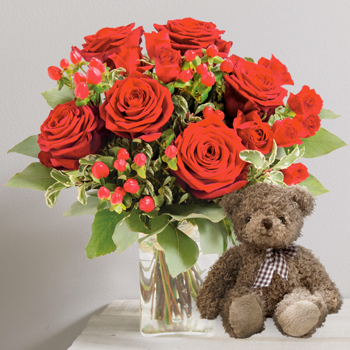 Fleurs et cadeaux Fougue et son ourson Harry
