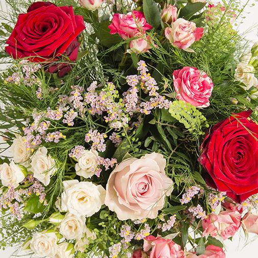 Fleurs et cadeaux Bouquet de l'amour et son champagne Devaux-Interflora