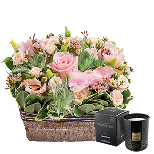 Nuage de tendresse & bougie parfumee - interflora