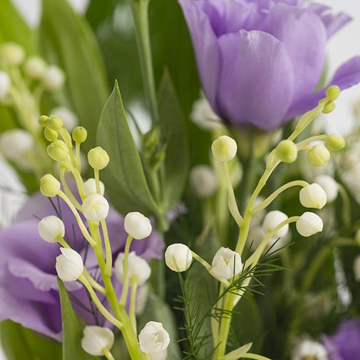Bouquet de fleurs Petit Bonheur et son écrin de chocolats