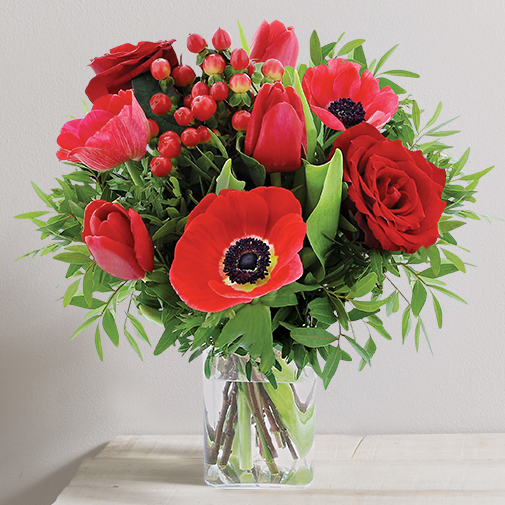 Bouquet de fleurs Joyeuses fêtes