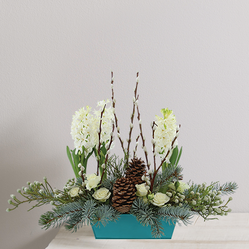 Composition florale Sous le sapin