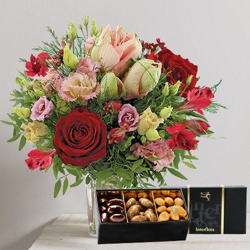 Fleurs et cadeaux Au coin du feu et ses amandes gourmandes