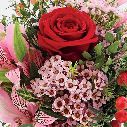 Bouquet de fleurs Je t'aime