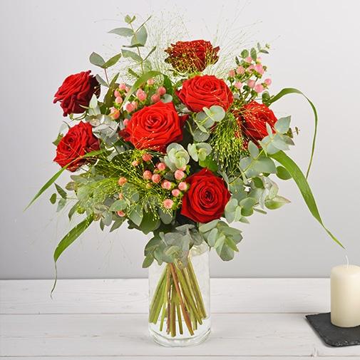 Bouquet de roses Fougue