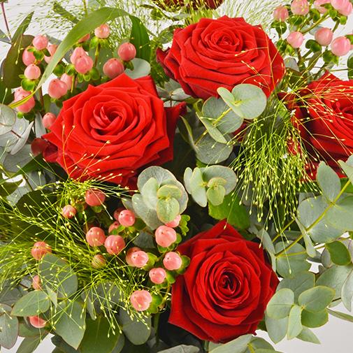 Bouquet de fleurs Fougue et son ourson Harry