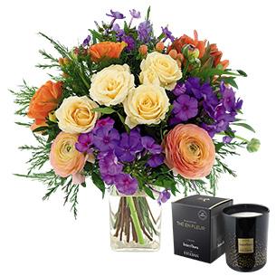 ea0b4ac5120b Fleurs et cadeaux Berlingot et sa bougie parfumée Cadeau Fête des Grands  Mères