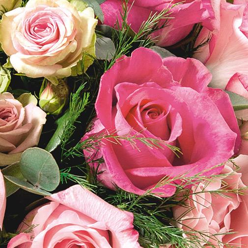 Bouquet de fleurs Instant complice et sa bougie parfumée