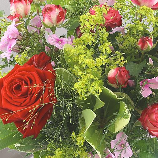 Fleurs et cadeaux Tendre bisou et ses amandes au chocolat