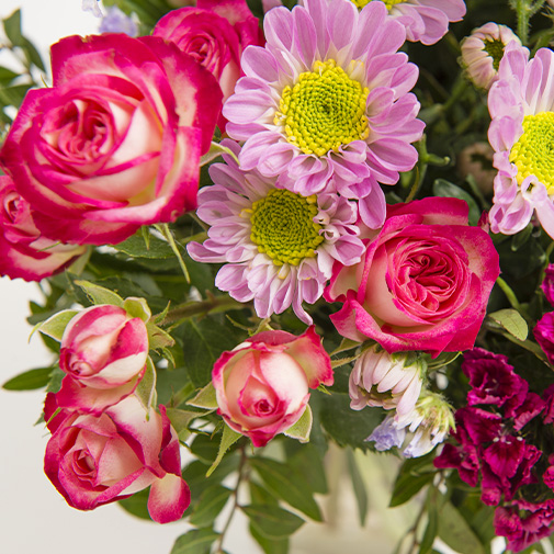 Bouquet de fleurs Tendre bisou et ses amandes au chocolat