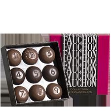 Fleurs et cadeaux FAUCHON Ecrin de chocolats x9
