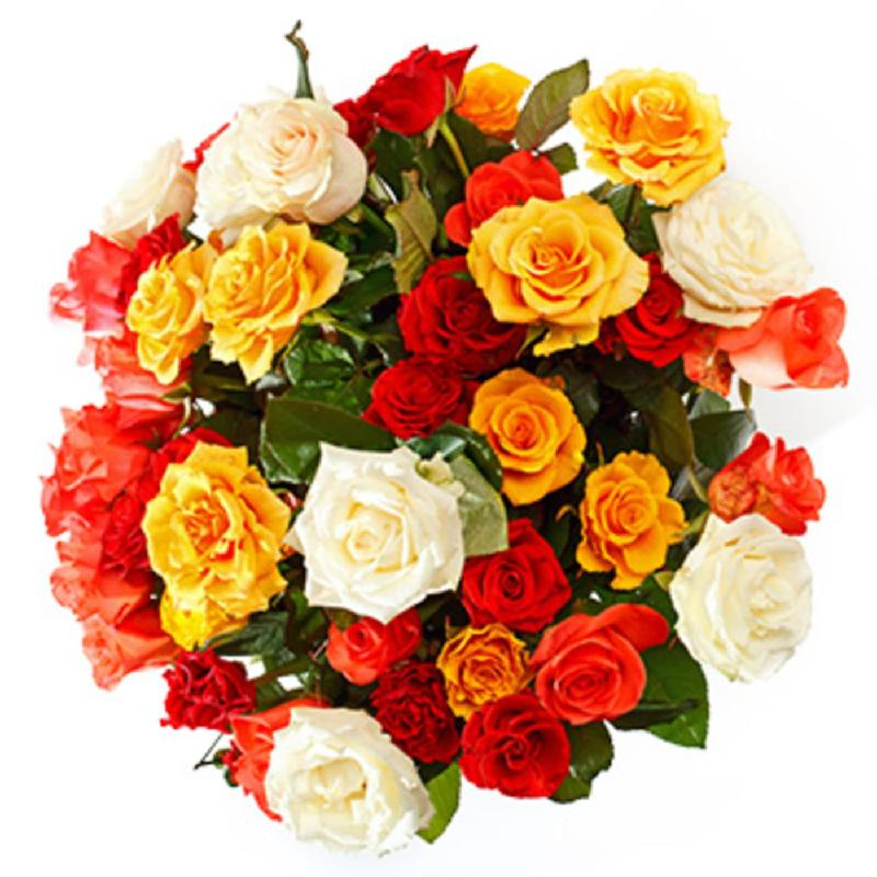 Bouquet de fleurs 12 Roses free color choice