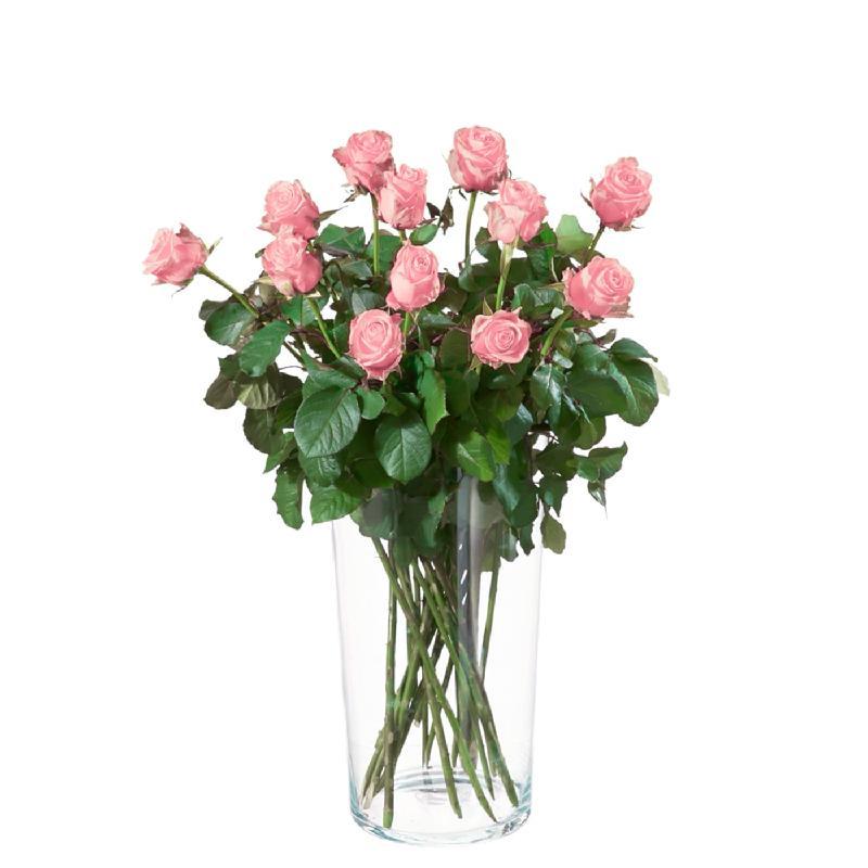 Bouquet de fleurs 12 Pink Roses