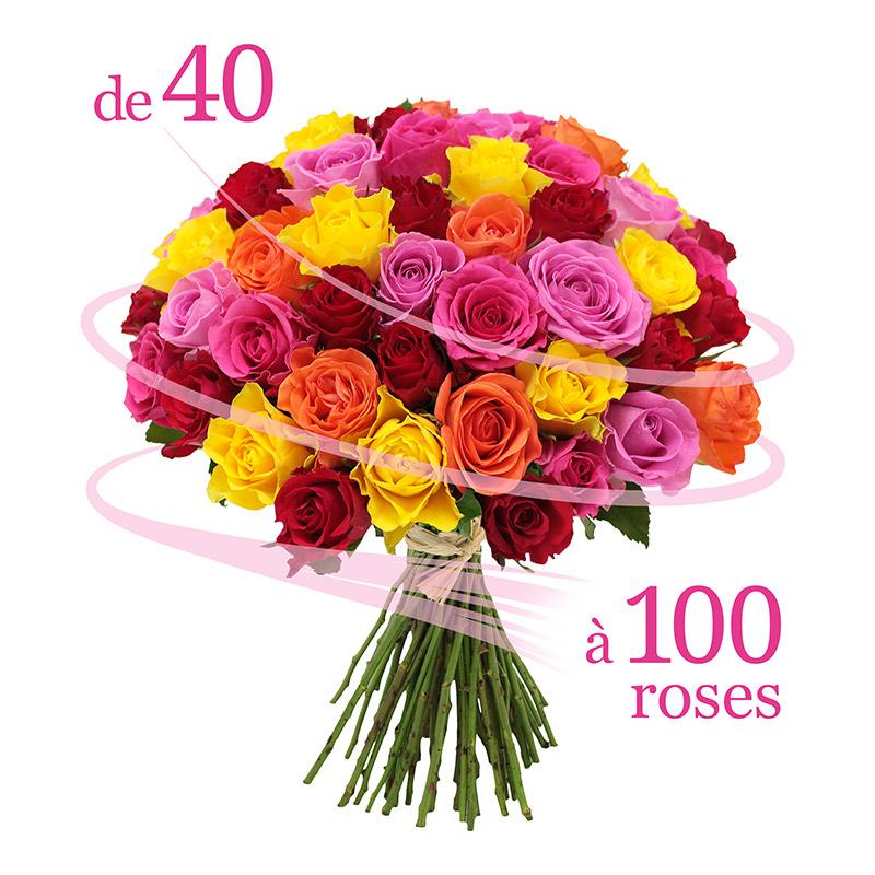Roses l 39 unit rapidit remise en main propre en de for Fleuriste livreur