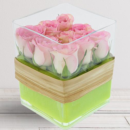 Bouquet de roses Cube de roses