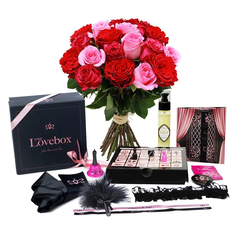 Coffret soir e sensuelle coffret cadeau livraison for Fleurs livres a domicile