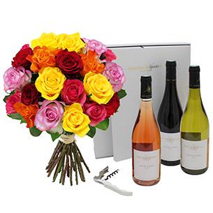 Brassee de roses et son coffret Duche d'Uzes<br> Mathilde Chapoutier - interflora