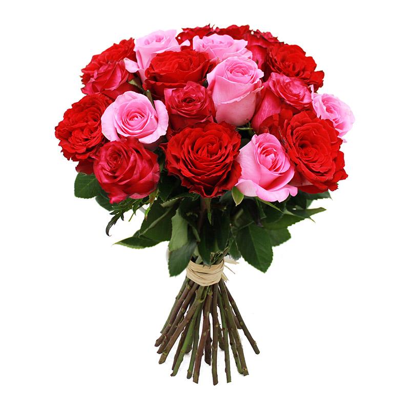 Brass e de 20 grandes roses cerise rouges roses 50 cm for Fleuriste livreur