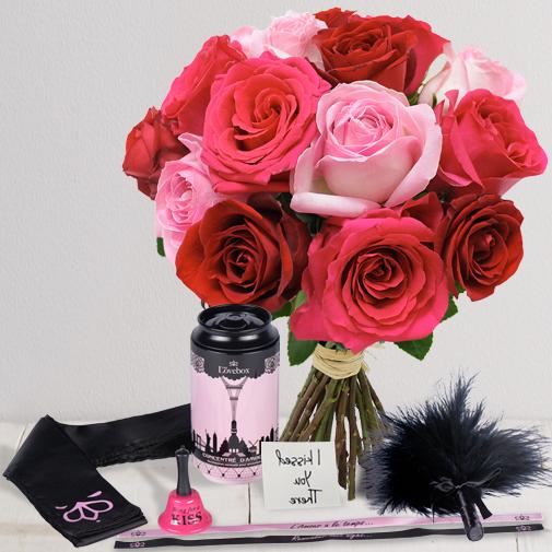 Fleurs et cadeaux Saint valentin sensuelle