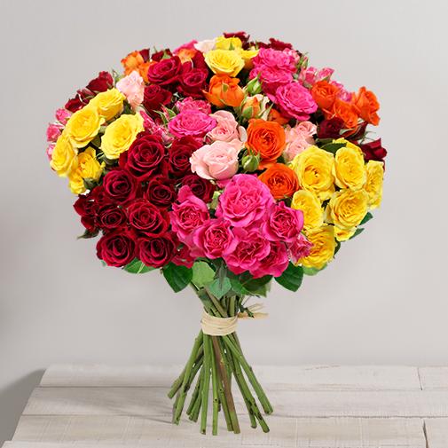 Fleurs et cadeaux Brassée de roses Tendresse
