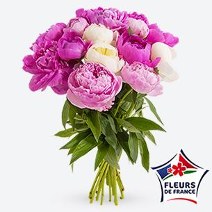 Bouquet de fleurs Brassée de pivoines Anniversaire