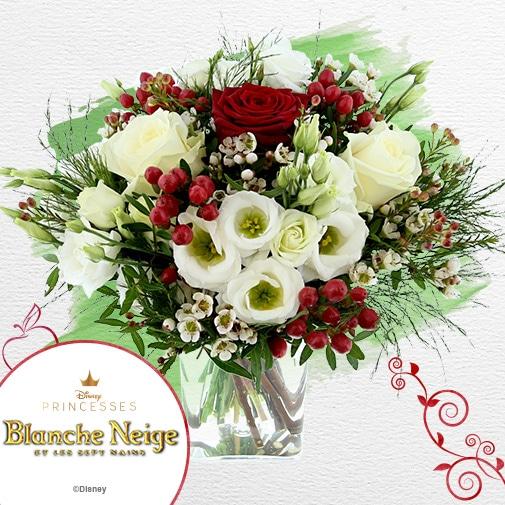 Bouquet de fleurs Blanche Neige