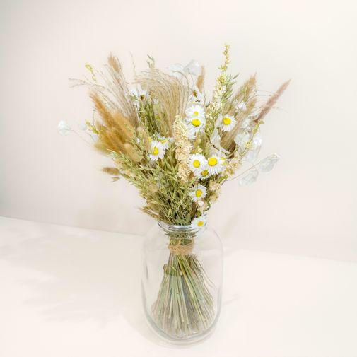 Bouquet de fleurs Virée Bohème et son vase