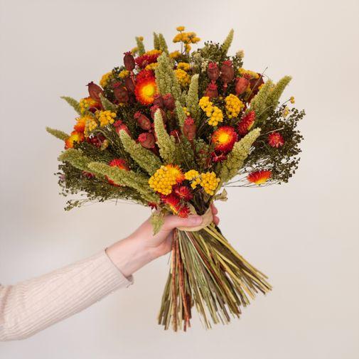 Bouquet de fleurs Belles Saisons et son vase