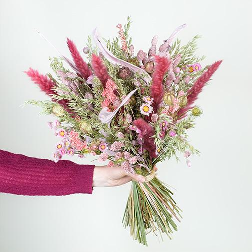 Bouquet de fleurs Balade champêtre et son vase