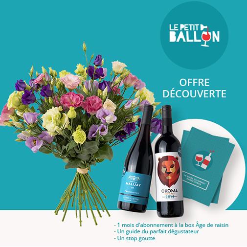 Fleurs et cadeaux Brassée de lisianthus et son offre découverte Le Petit Ballo