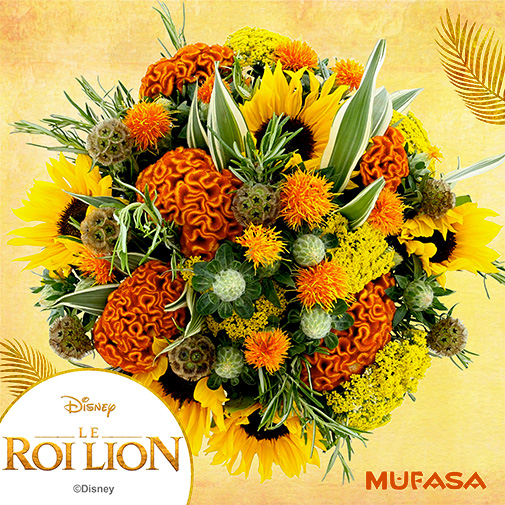 Bouquet de fleurs Simba & Mufasa