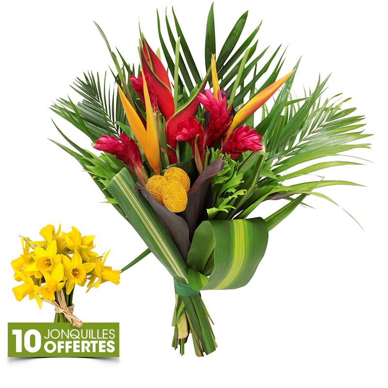 bouquet de fleurs exotiques mamie douceur fleurs f te des grands m res interflora. Black Bedroom Furniture Sets. Home Design Ideas