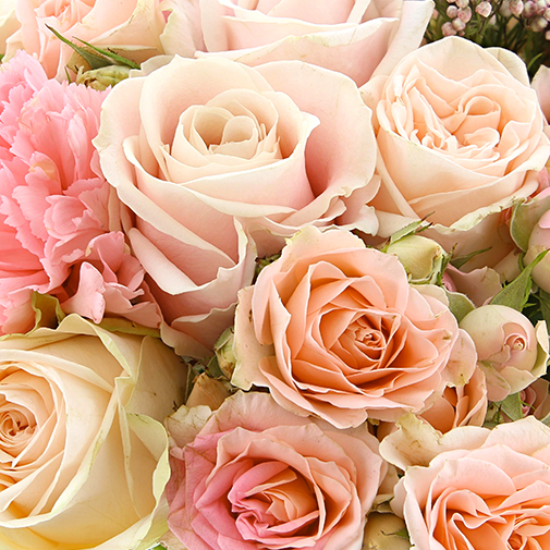 Bouquet de fleurs En rose et noir