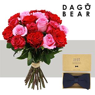 Brassee de roses et son nœud papillon Dagobear - interflora