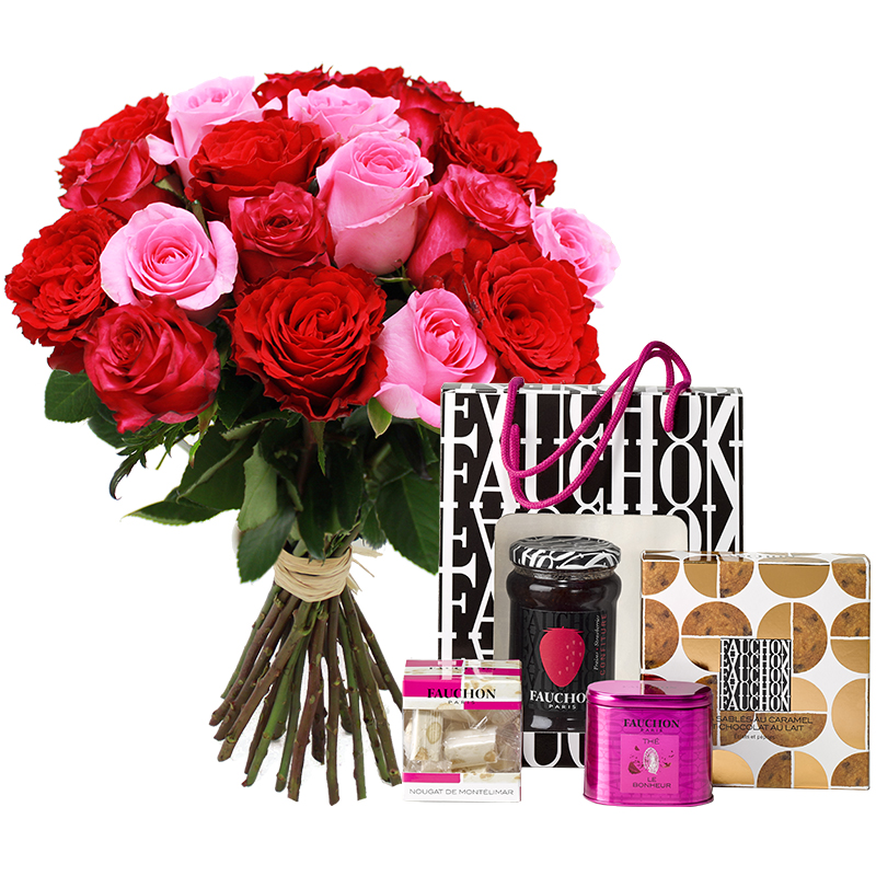 Roses et son fauchon chic collection no l livraison for Fleuriste livreur