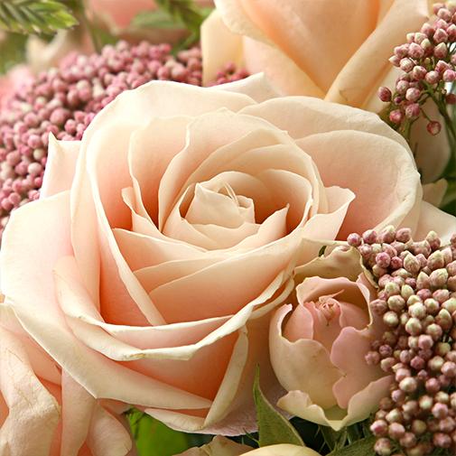 Bouquet de fleurs Rose Tendre