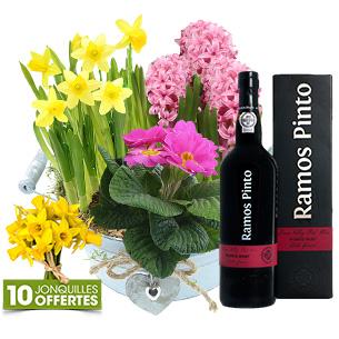 edeef4e0f9dd Fleurs et cadeaux Coupe de plantes et son porto Cadeau Fête des Grands Mères