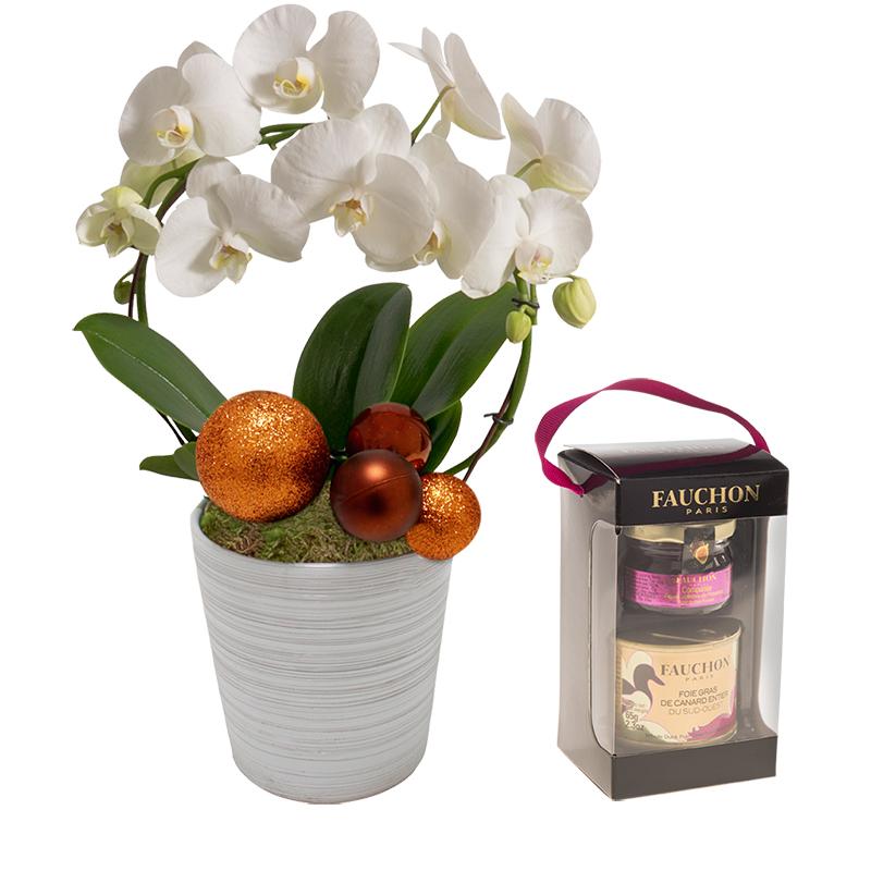 orchid e de no l et son coffret foie gras fauchon coffret cadeau livraison chronopost. Black Bedroom Furniture Sets. Home Design Ideas