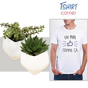 Plantes grasses et son t-shirt