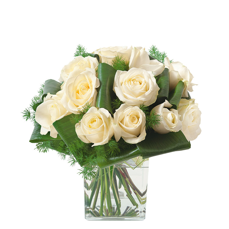 bouquet deuil traditionnel de roses interflora. Black Bedroom Furniture Sets. Home Design Ideas