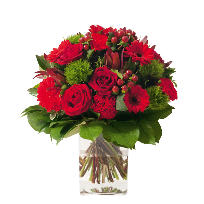 bouquet deuil traditionnel de roses gerbera interflora. Black Bedroom Furniture Sets. Home Design Ideas