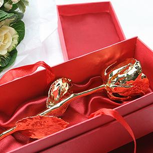 Fleurs et cadeaux Rose en or Saint-Valentin