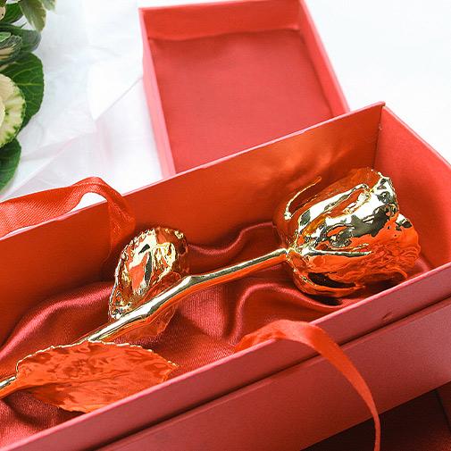 Rose en or 24 carats - 38cm