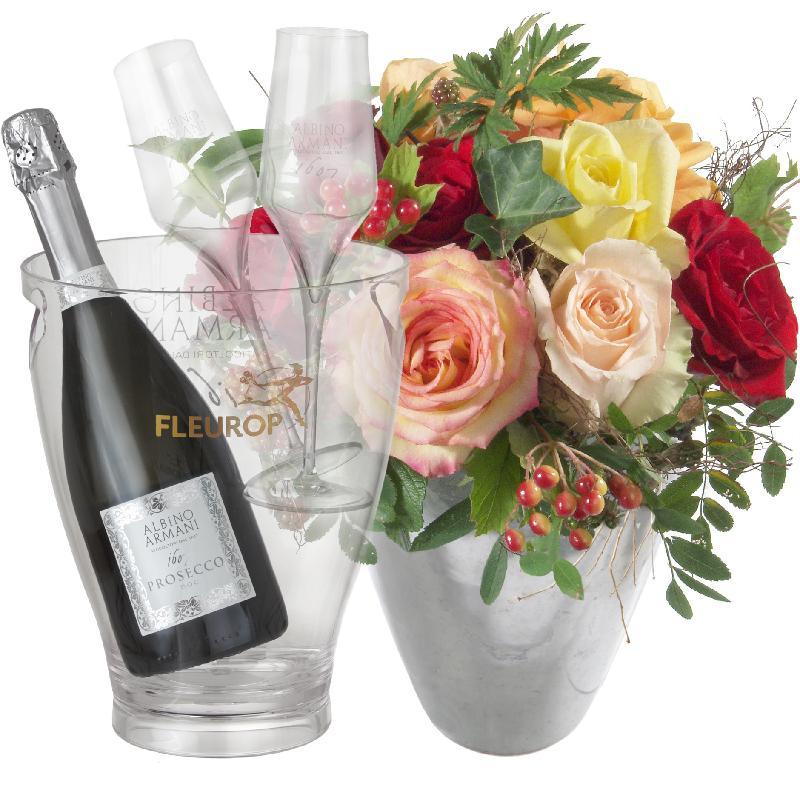 Magic of Roses with Prosecco Albino Armani DOC (75 cl) incl.