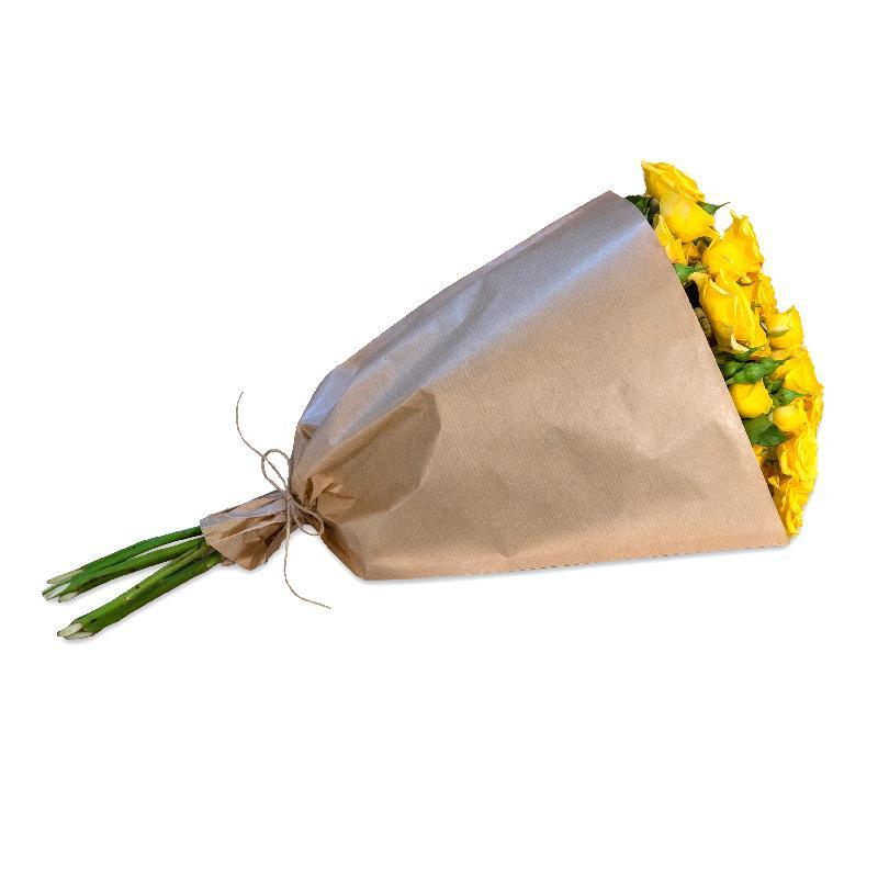 Bundle of yellow Polyantha Roses