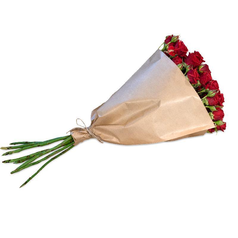 Bundle of red Polyantha Roses
