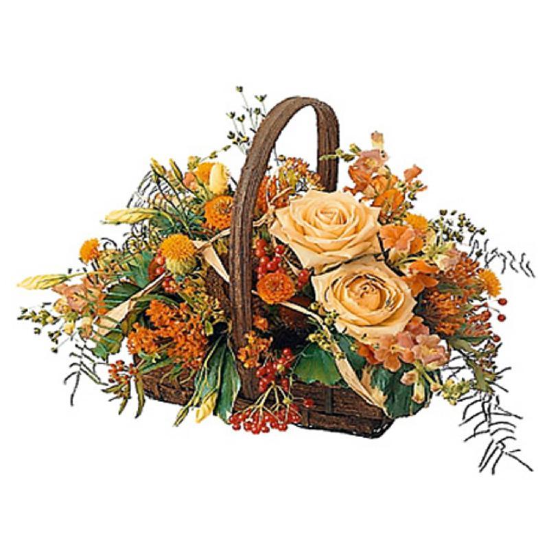 Bouquet de fleurs Charming Basket with handle