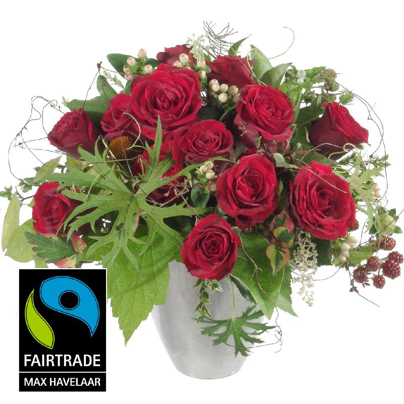 Bouquet de fleurs Bouquet I love you, with Fairtrade Max Havelaar-Roses, big b